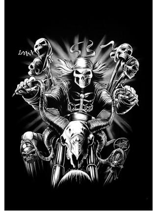 Скелет байкер